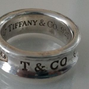 Tiffany&co Sterling silver band ring